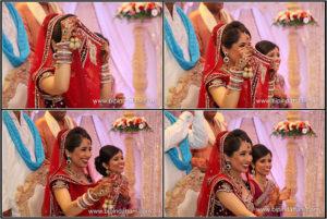 set of natural photos by hindu wedding photographer at London heathrow hilton t5