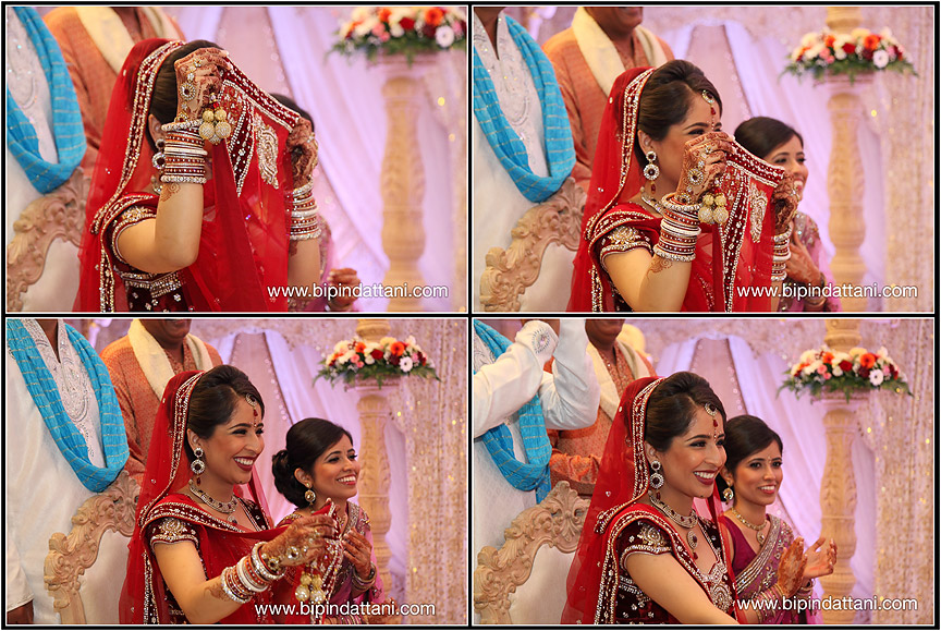 set of natural photos of bride at her hindu wedding at heathrow hilton t5