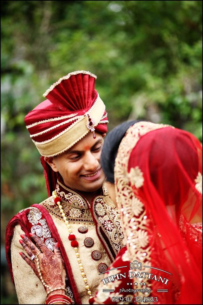 Nisha & Vinesh's post hindu wedding portrait by Bipin Dattani master indian wedding photographer