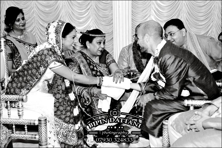 modern kanyadan marriage ceremony in an Indian wedding ceremony