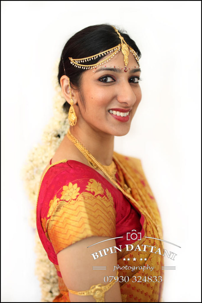 tamil hindu bridal portrait before wedding