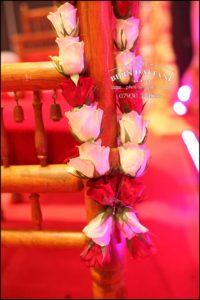 close of flower wedding garland for hindu wedding