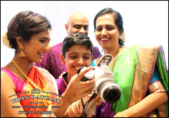 natural candid image of guest for Anjalis tamil wedding photography london