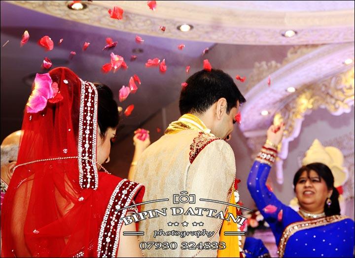 hindu bride & groom phera ceremony in documentary style Indian wedding photography