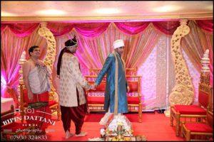 unique grooms entrance at his tamil hindu wedding london
