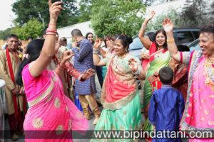 gujarati wedding photographer at Nisha & Vinesh's hindu wedding groom's entrance