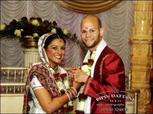asian wedding photographer milton keynes after marriage couple's portrait