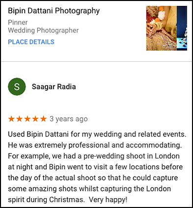 best wedding photographer in london review by Saagar Radia