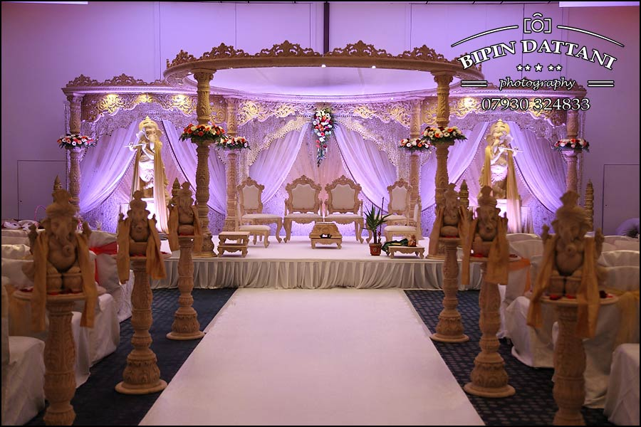 hilton t5 indian wedding mandap stage setup