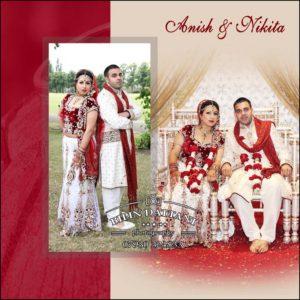 very special indian wedding album cover design for bride & groom's album