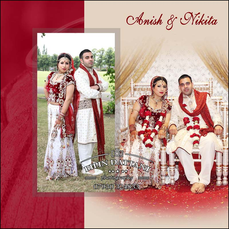 very special indian wedding album cover design for bride & groom's album