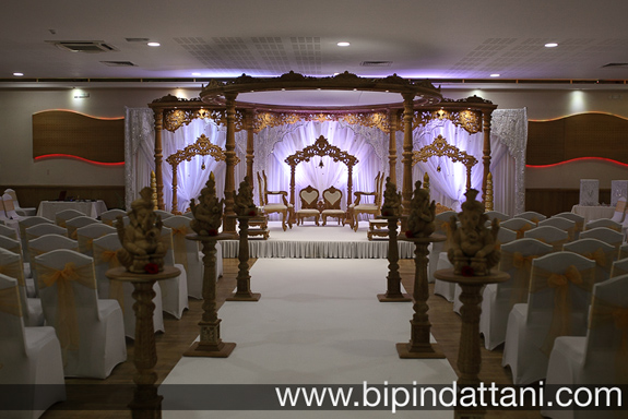 indian wedding decoration photography of wedding mandap and wedding stage setup