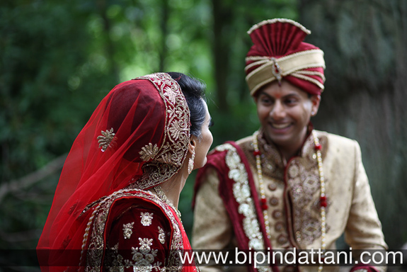 indian couples post wedding portrait