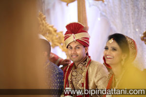 best candid image of Indian groom during London wedding ceremony