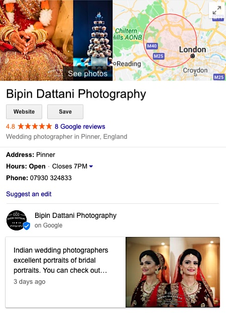clients positive reviews for Bipin Dattani's indian wedding photography