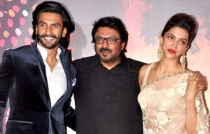 Ranveer Singh Sanjay Leela Bhansali and Deepika Padukone of Ram Leela Indian love story