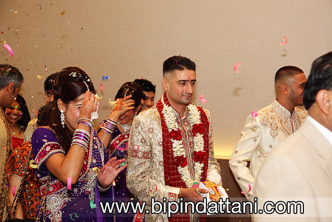 Manish's entrance at his London hilton wembley wedding