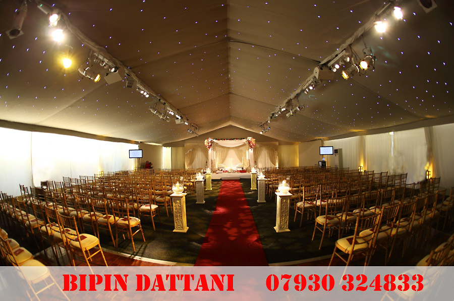 Indian wedding mandap and decoration photo at indian wedding at Painshill Park Cobham Surrey