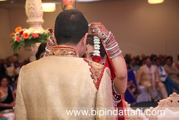 Bride & Groom's Garland Exchange is a Indian Hindu wedding tradition