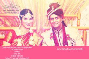 anjali and priyank portrait after tamil wedding ceremony
