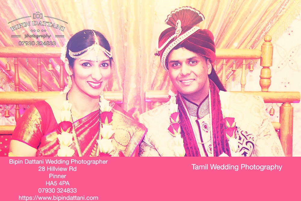 anjali and priyank portrait after tamil wedding ceremony